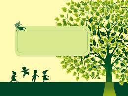 cartoon tree powerpoint template education classroom