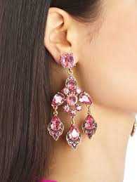 chandeliers earrings oscar de la renta magenta swarovski crystal chandelier earrings in