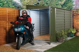 Backyard Garage Designs Motorcycle Shed Shelterlogic 6x6x6 5 E Series Motorcycle Shed