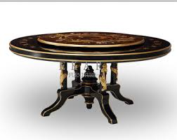 dining table with rotating antique wooden rotating dining table buy rotating