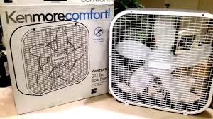 kenmore 18 inch stand fan with remote my kenmore box fan stinke review youtube