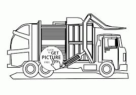 cool garbage truck coloring kids transportation coloring