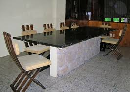 Granite Dining Room Table Black Granite Top Dining Table Home Interior Design Ideas