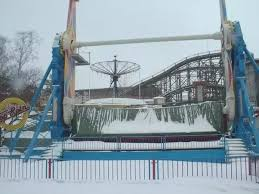 at amusement parks what do they do to the rides during winter