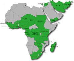 Africa Middle East Map by Our Footprint Intarget Mobile Advertising