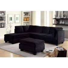 Black Microfiber Sectional Sofa Black Microfiber Sectional Sofa