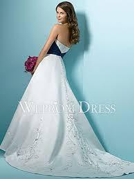 lace up embroidery sash crystal royal blue white satin sleeveless