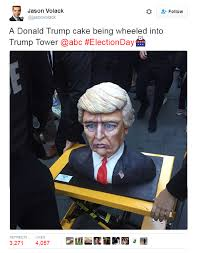 trump had a cake made in his likeness and twitter couldn u0027t believe