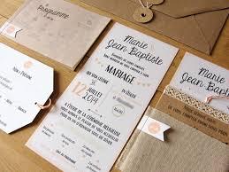 faire part mariage vintage faire part mariage kraft sur mesure rétro graphique save the date