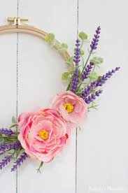 embroidery hoop spring wreath diy 10 minute craft