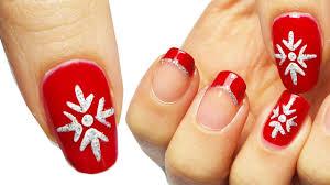 christmas nail art tutorial natalizia youtube