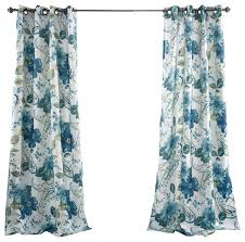 Turquoise Paisley Curtains Floral Paisley Window Curtain Set Blue Curtains By Lush Decor