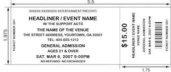 free printable event ticket templates event ticket template