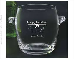 etched glass vase personalized personalized wine buckets u0026 engraved wine cooler