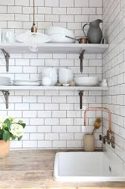 backsplash white tiled kitchens best metro tiles kitchen ideas
