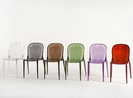 furnitures colorful modern acrylic chairs make everything clear