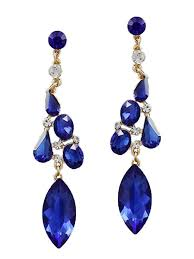 chandelier earrings sapphire blue chandelier earrings blue velvet vintage