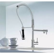 Designer Habitat Chrome Single Handle Pull Out Spray Kitchen Sink - Kitchen sinks taps