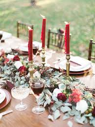 candle runners 32 winter wedding table runners in different styles weddingomania