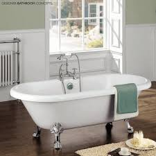 fashioned bathrooms magnification mirror porcelain bathtub