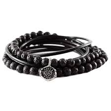 leather wrap bracelet men images Carpe diem jewelry mens silver black leather wrap jpg