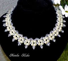 pearls beads necklace images Free pattern for necklace crystals and pearls beads magic jpg