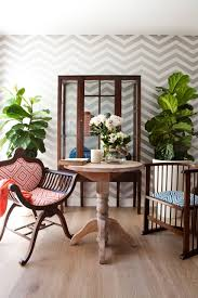 wallpaper in dining room 10 ways to display chevron wallpaper in your home