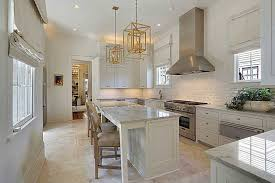 White Carrera Marble Kitchen Countertops - contemporary kitchen with complex marble counters u0026 undermount