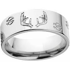 stainless steel wedding rings men s deer track and rack durable 8mm stainless steel wedding band
