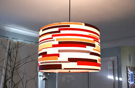 Fabric Drum Pendant Lights Top 46 Startling Large Drum Pendant Light Fabric Shade Lighting