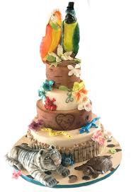 Tropical Themed Wedding Cakes - tropical wedding wedding cakes derby nottingham