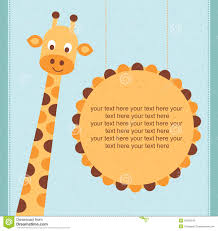 Invitation Card Birthday Cute Baby Shower Birthday Invitation Card With Giraffe