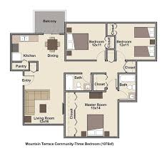 Floor Plans For Mountain Homes Low Income Apartments Denver Mountain Terrace Community