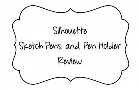 review silhouette sketch pens and pen holder youtube