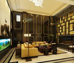 Asian Home Interior Design Hovering Oriental Living Room With Rattan Chairs And Chinese Wall