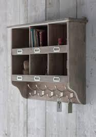walnut cube wall shelves