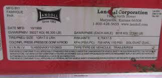 2000 landoll 930 hydratail equipment trailer item e5282
