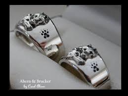 wolf wedding rings ahern brucker 18k limited edition wolf wedding sets