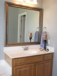 bathroom mirror trim ideas bathroom cabinets custom frames for existing mirrors bathroom