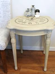 How To Paint And Stencil by Stenciled Clock Table Makeover A Secret In The Garage