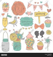 vintage cocktail party illustration vintage vector wedding set vector u0026 photo bigstock