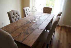 farmhouse style dining table introducing the charm of natural wood ideas dining room large size clean farmhouse style dining table for six users with transparent centerpieces