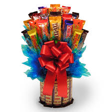 candy basket delivery kitkat candy bouquet hayneedle