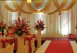 wedding backdrop gold top 3x6m white and gold wedding backdrop curtain with swag