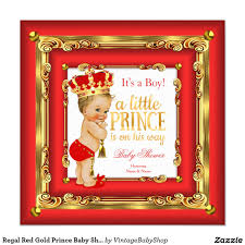 regal red gold prince baby shower blonde boy card blonde boys