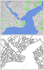 Istanbul Map Illustration City Map Of Istanbul Royalty Free Cliparts Vectors