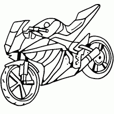 simple motorcycle drawing stealth motorcycle coloring page free