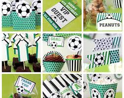 soccer party supplies soccer centerpieces soccer birthday party soccer baby shower
