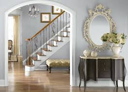 behr paint silver shadow n510 1 for the entryway stairway