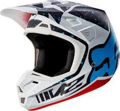 ebay motocross helmets fox racing v2 2017 motocross helmet nirv yellow blue hi
